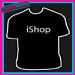 I SHOP SHOPPING GIFT FUNNY SLOGAN TSHIRT